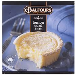 Photo of Balfours Lemon Curd Tart 4pk 320g