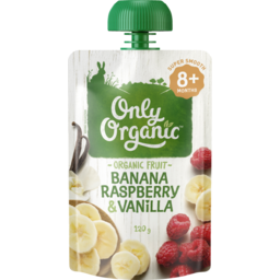 Photo of Only Organic Banana Raspberry & Vanilla 120g