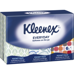 Photo of Kleenex Facial Tissues Pocket Pack Soft 4Ply 6 Pack