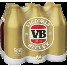 Photo of Victoria Bitter Gold 4x6 X 375ml Bottles