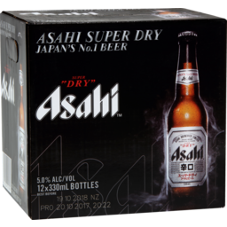 Photo of Asahi Super Dry 12 x 330ml Bottles