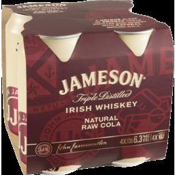 Photo of Jameson Irish Whiskey Natural Raw Cola 375ml 4 Pack