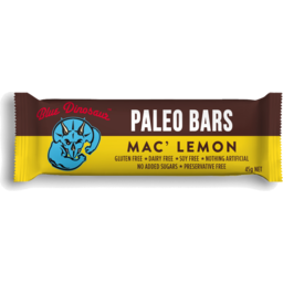 Photo of Blue Dinosaur Paleo Bars Mac' Lemon 45g