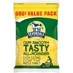 Photo of Devondale Tasty Shredded Cheese 600g