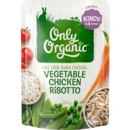 Photo of Only Organic Risotto Vegetable & Chicken 220g
