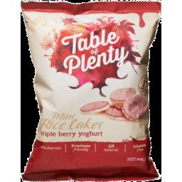 Photo of Table Of Plenty Berry Yog Mini Rice Cake Gluten Free