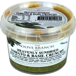 Photo of The Olive Branch Heavenly Sundried Tomato & Basil Crunchy 250gm