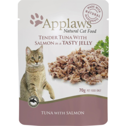 Photo of Applaws Cat Food Pouch Tuna Fillet With Salmon In Jelly 70g
