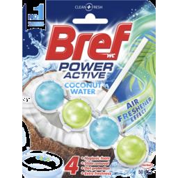 Photo of Bref Power Active Coconut Water, Rim Block Toilet Cleaner 50g