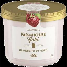 Photo of Pauls Farmhouse Gold Pot Set Yoghurt Strawberry 700g