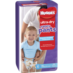 Photo of Huggies Nappy Pants Ultra Dry  Junior Boy Size 6 28 Pack