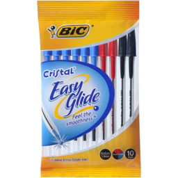 Photo of Bic Cristal Easy Glide Assorted 10pk