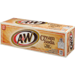 Photo of A&W Cream Soda With Aged Vanilla - 12 Pk