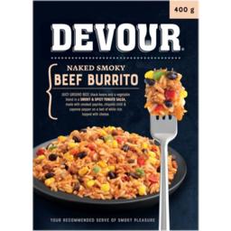 Photo of Devour Naked Smoky Beef Burrito 400g