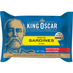 Photo of King Oscar Sardine Single Layer 105gm