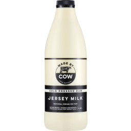 Photo of Made By Cow Cold Pressed Raw Jersey Milk 1.5l