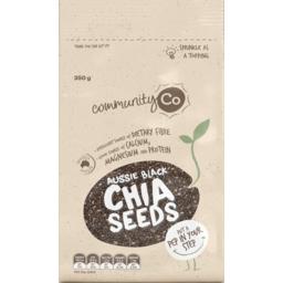 Photo of Community Co Aussie Black Chia Seeds 350g