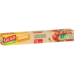 Photo of Glad To Be Green Bake & Cooking Paper Compostable Brown 30cmx15m