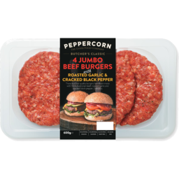 Photo of Peppercorn Jumbo Burger Garlic Pepper 600g