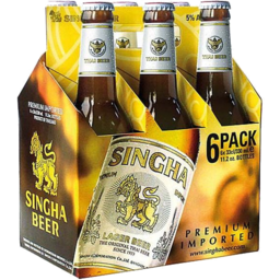 Photo of Singha Beer 6 x 330ml Bottles
