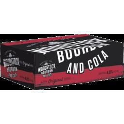 Photo of Woodstock Bourbon & Cola 375ml 24 Pack