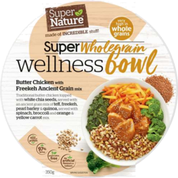 Photo of Super Nature Super Wholegrain Wellness Bowl – Butter Chicken With Freekeh Ancient Grain Mix 350gm