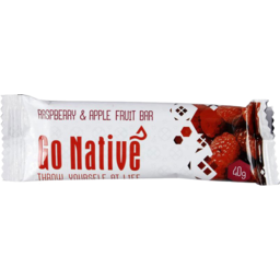 Photo of Go Native Fruit Bar Raspberry & Apple 40g