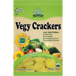Photo of Snack World Vegy Crackers Sour Cream & Chives 90gm