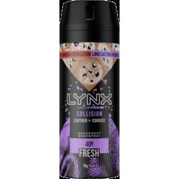 Photo of Lynx Deodorant Aerosol Collision Leather + Cookies 165ml