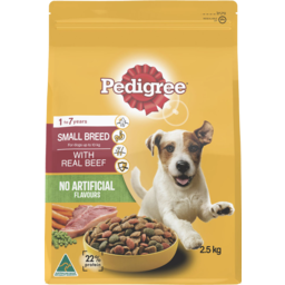 Photo of Pedigree Small Breed With Real Minced Beef 2.5kg