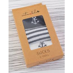 Photo of Socks 3pk 6-12 Months Navy Anchor