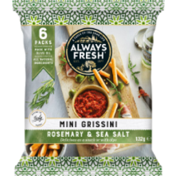 Photo of Always Fresh Mini Grissini Rosemary & Sea Salt 6x22gm