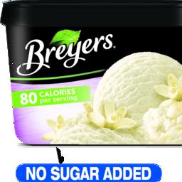 Photo of Breyers Vanilla No Sugar Added Frozen Dairy Dessert