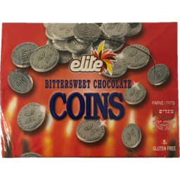 Photo of Elite Chocolate Coins Bittersweet 24 X 15g