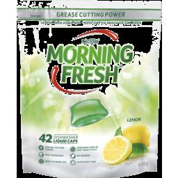 Photo of Morning Fresh Dishwasher Liquid Caps 42 Pack Lemon