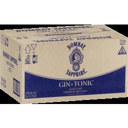 Photo of Bombay Gin & Tonic Sapphire 275ml 24 Pack