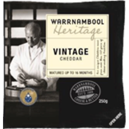 Photo of Warrnambool Cheese Vintage Heritage 250g
