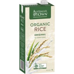 Photo of Australias Own Organic Rice Milk 1lt