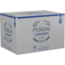 Photo of Peroni Leggera 3.5% Bottle 330ml 24 Pack