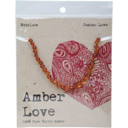 Photo of Amber Love Necklace - Amber Cognac