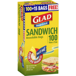 Photo of Glad Snaplock Reseal Sandwich Bags 100pk
