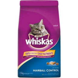Photo of Whiskas Cat Food Dry Hairball 1.5kg