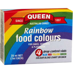Photo of Queen Rainbow Food Colours 4pk