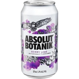 Photo of Absolut Botanik Berry Lime & Vodka Cans