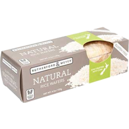 Photo of Rutherford & Meyer Rice Wafers Natural 120g