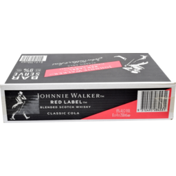 Photo of Johnnie Walker & Cola Bar Serve 9% Can 250ml 24 Pack