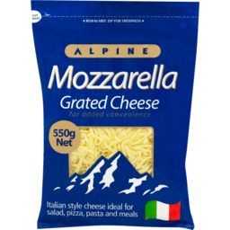Photo of Alpine Cheese Grated Mozzarella 550g