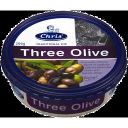 Photo of Chris Greek Dip Three Olive 200gm