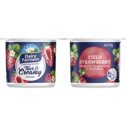 Photo of Dairy Farmers Thick & Creamy Yoghurt Strawberry Multipack ( 4* 110 Gms)