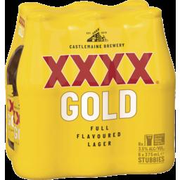 Photo of XXXX Gold Stubbies 375ml 6 Pack